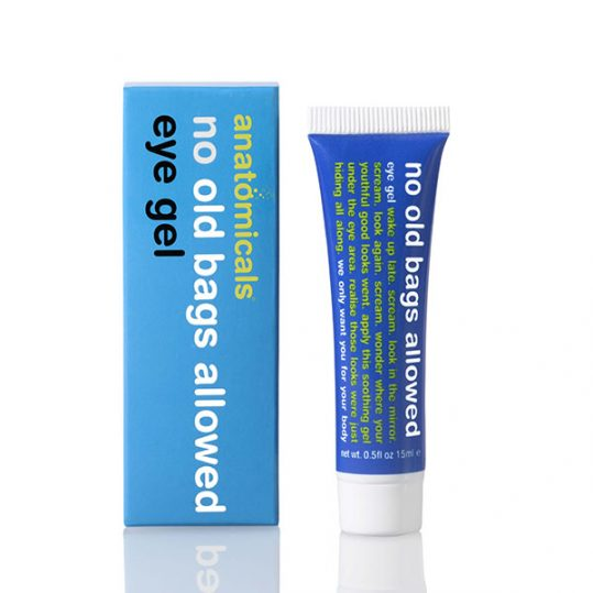 anatomicals no old bags allowed revitilising eye gel