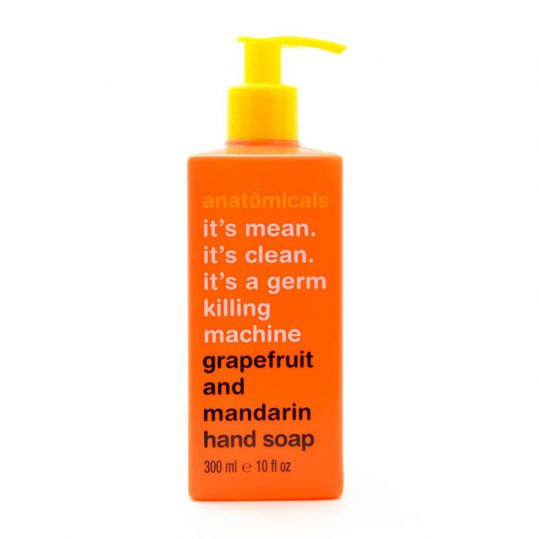 Anatomicals It's mean It's Clean It's a Germ Killing Machine Grapefruit and Mandarin Hand Soap