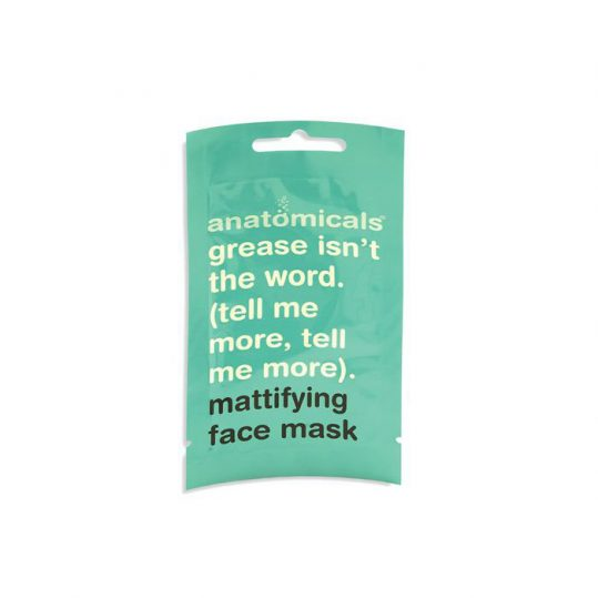Anatomicals Mattfying face mask grease is the word tell me more tell me more