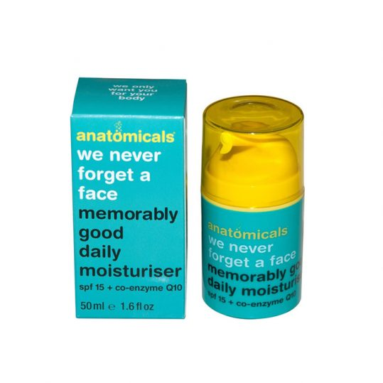Anatomicals We never Forget A Face memorably Good Daily Moistuirser with SPF 15 and Anti-Wrinkle